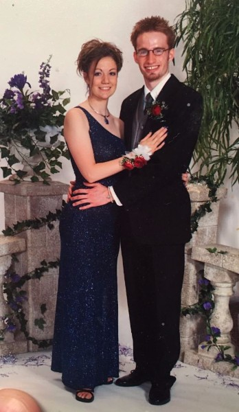 Roger Jaeger at Jenks High School Prom in 2004