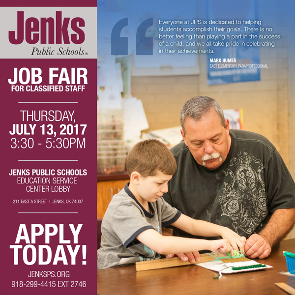 Job Fair for Classified Staff Graphic