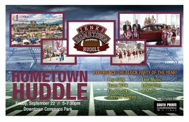 Hometown Huddle is next week! Bring the entire family to the Jenks Downtown Commons for games, food trucks, live music, and much more! The biggest and best tailgate party in town brings together Trojans of all ages! Proudly presented by www.southpointeaut