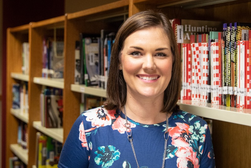 Emily Johnson, who started as a Language Arts teacher at Jenks Middle School in 2010, has served as the school's Library Media Specialist for the last five years.
